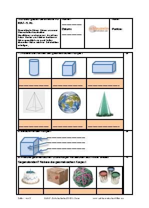 schulaufgabe geometrie i 2 lern und bungshilfen f r die grund und mittelschule. Black Bedroom Furniture Sets. Home Design Ideas