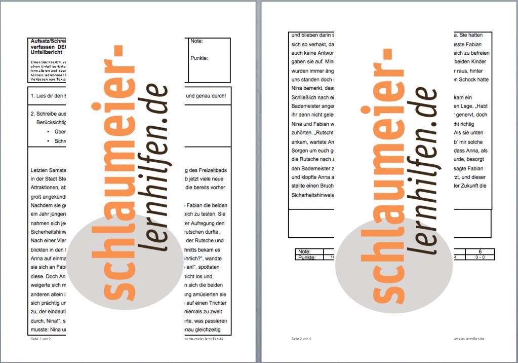 arbeitsblatt vorschule 187 bericht schreiben klasse 4