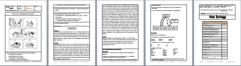 arbeitsblatt vorschule 187 bildergeschichte 3 klasse aufsatz
