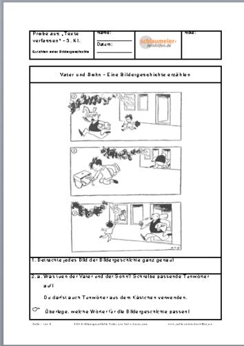 Aufsatz bildergeschichte 4 klasse beispiel bild