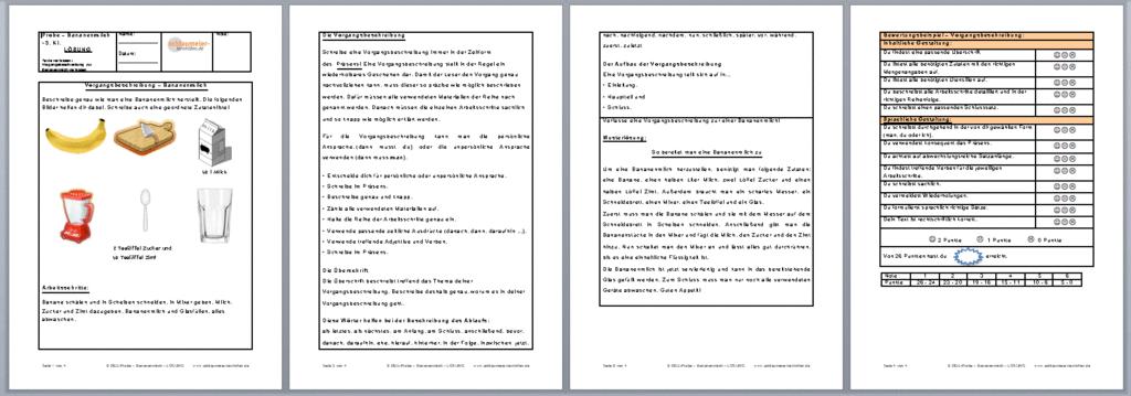 vorgangsbeschreibung klasse 6 klassenarbeit